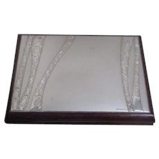 Wood Presentation Box with Silvertone Lid