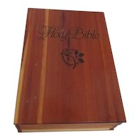 Pine Bible Box with Presentation Bible from Carpenters Union