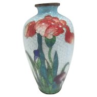 Vintage Ginbari Japanese Foil Cloisonne Vase