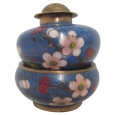 Cloisonne Individual Salt & Pepper Shaker Set