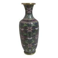 Multi-colored Detailed Cloisonne Vase with Stylized Dragons