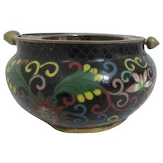 Cloisonne Ashtray with Turning Lid