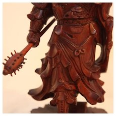 Asian Wood Carving of Chinese Warrior