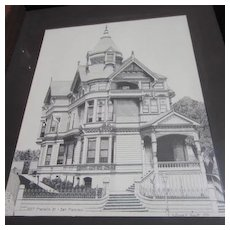 Framed Ink Drawing of Franklin Street Victorian House San Francisco