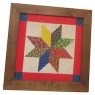 Framed Quilt Square Star Pattern