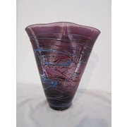 "Hand Blown Art Glass 12"" Vase"
