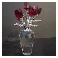 Swarvoski Miniature Red Roses Item # 627098