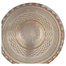 Miss America Pink Depression Glass Divided Relish Plate and Vegetable Bowl Diamond Pattern
