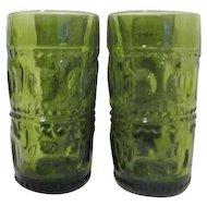 Set of 4 Avocado Green Kings Crown Water Tumblers