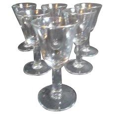 Set of 6 La Fayette Cordial Clear Glasses in Original Box