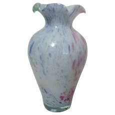 Murano Style Multiple Colored Glass Vase from Italy