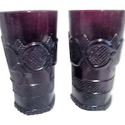 Set of 2 Avon Cape Cod Red Tall Beverage Glasses