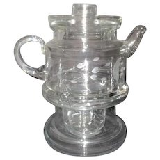 Princess House Clear Glass Coffee Pot on Stand for Heating