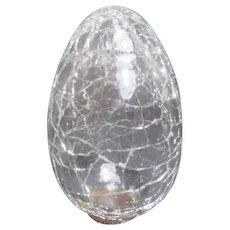 Clear Crackle Glass Egg