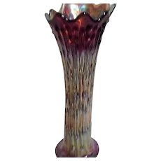 Northwood Carnival Glass Tree Trunk Vase Gold/Brown/Blue