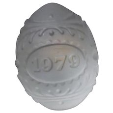 Crystal Egg 1979 Paperweight from Western Germany