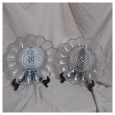 Hobnail Thousand Eye Clear Relish Deviled Egg Plate by Indiana Glass