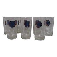 Set of 8 Lions International Drinking Glasses