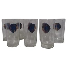 Set of 8 Lions International Drinking Glasses
