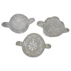 Three Cut Crystal Sugar Bowls