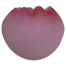 Large Fenton Pink Satin Bowl Vase