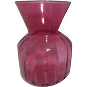 Art Glass Cranberry VAse by Pilgrim Glass Co
