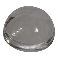 Half Dome Clear Glass Magnifying Paper Weight