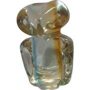 Art Glass Owl Paperweight