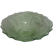Open Rose Mayfair Pattern Fruit Bowl by Hocking Glass 1931-1937