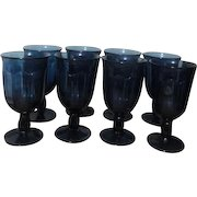 Set of 8 Noritake Provincial Colonial Blue Iced Tea Goblets