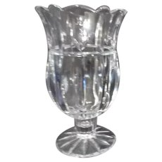 Block Tulip Vase/Candle Holder Heavy Lead Crystal