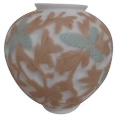 Consolidated Glass Martele Pine Cone Satin Glass Vase