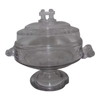 Victorian EAPG Covered Butter Dish