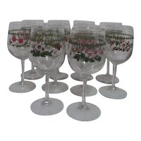 Set of 10 Goblets with  Assorted Flowers Decoration