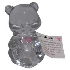 Fenton Glass Birthday Bear for October