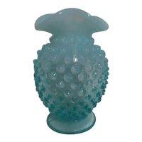 Fenton Opalescent Hobnail Blue Mini-vase