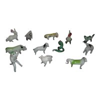 Set of 12 Miniature Glass Animals-12 Signs of the Chinese Zodiac in Original Shipping Box