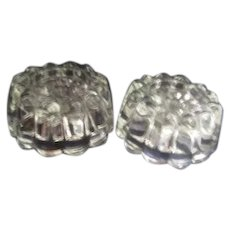 Pair of Princess House Crystal Ribbed Triple Sized Candle Holders