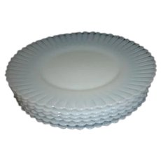 Federal Glass Company Moon Glow Pattern Set of 6 Dessert Plates