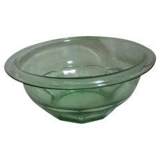 Anchor Hocking Green Florescent Mixing Bowl
