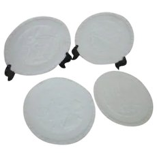 Set of 4 Fenton Bicentennial Commemorative Milk Glass Plates Original Boxes