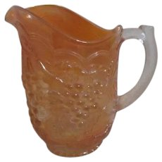 Imperial Carnival Glass Marigold Grape Pattern Pitcher