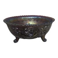 Imperial Glass Rose Lustre Footed Bowl 1960's