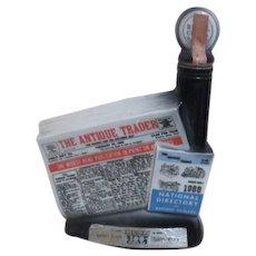 Jim Beam Commemorative Bottle 11th Anniversary of Antique Trader Paper