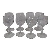 Libbey Georgian White Wine Goblets/glasses Set of 8