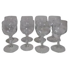 Libby Georgian White Wine Goblets Set of 8