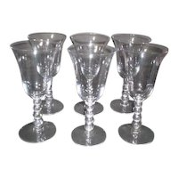 Imperial Glass Company Candlewick Water Goblets Set of 6
