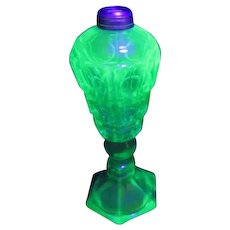 Florescent Green Glass Oil Lamp