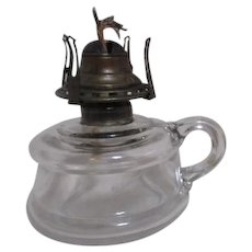 Finger Oil Lamp Clear Glass