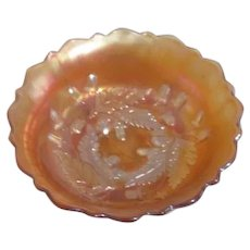 Fenton Marigold Carnival Glass Bowl in Acorn Pattern